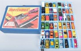 40-vintage Matchbox Cars W/case