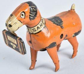 """MARX Tin Windup """"LITTLE ORPAHN ANNIE'S"""" SANDY DOG"""
