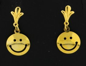Happy Face Dangle Earrings
