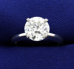 Gia Certified 2 1/2 Ct Diamond Solitaire Ring In