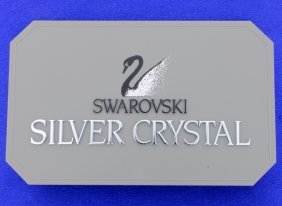 Swarovski Rectangular Plastic Dealer Display Plaque