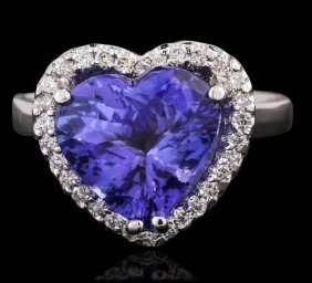 Heart Shaped Tanzanite Ring