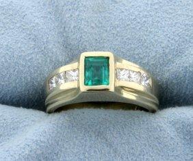 Columbian Emerald & Diamond Ring