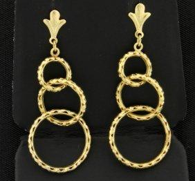 Triple Loop Dangle Earrings