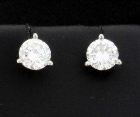 Diamond Stud Earrings 0.80 Carat Tw In Platinum