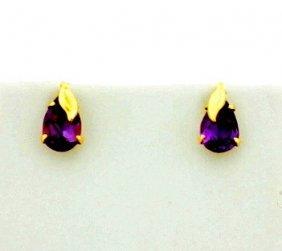 2ct Total Weight Amethyst Earrings