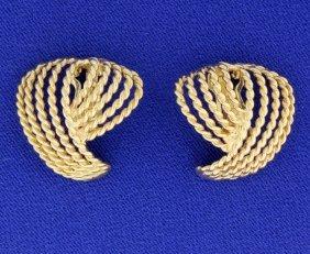 14k Clip Back Fashion Earrings