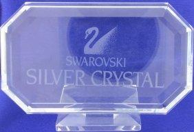 Swarovski Rectangular Crystal Plaque