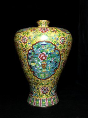 Magnificent Ming Dynasty Xuande Cloisonné Meiping