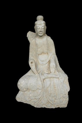 Important Northern Wei Carved Limestone Buddha Figure
