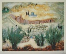 Reuven Rubin Signed And No. LITHO Jerusalem