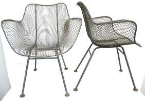 """Pair Mid Century Woodard """"sculptura"""" Chairs"""
