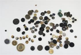 100 VICTORIAN 19th C BUTTONS