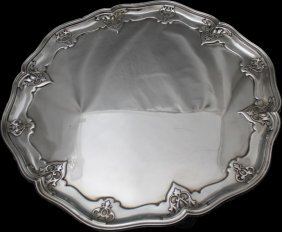 Monumental Sterling Silver 1914 Footed Tray -