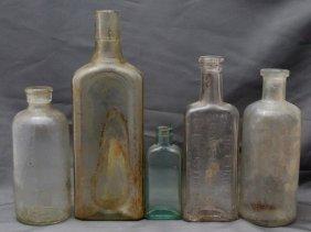 5 Antique & Vintage Bottles - Dr Kings - 3 In One -