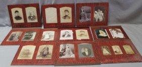 Antique Victorian Photo Album 53 Photographs