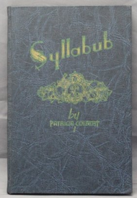 1st Ed. 1946 Syllabub By Patricia Colbert- Charleston
