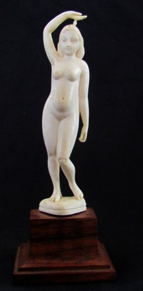 Antique Carved Oriental Statue Nude
