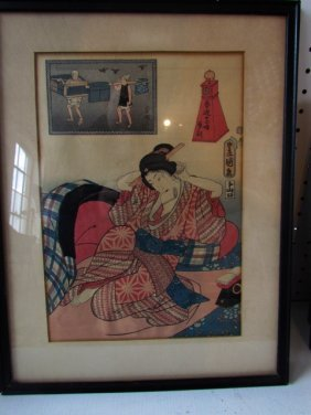 Group Four Japanese Woodblock Prints