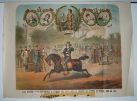 Rare Dr. W.F. Carver Lithograph Poster
