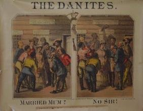 """Very Rare The Danites"""" Lithograph Poster"""""""