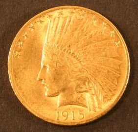 1915 Indian Gold Coin