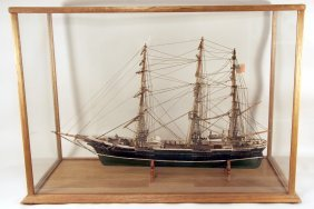 Large Ship Model In Case