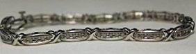 Gorgeous Silver Bracelet With Diamonds