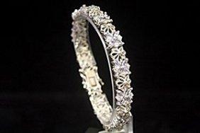 Stunning Aquamarine Silver Bracelet