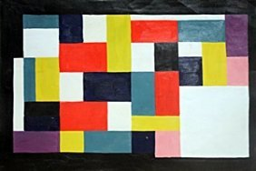 Composition - Oil Painting - Theo Van Doesburg