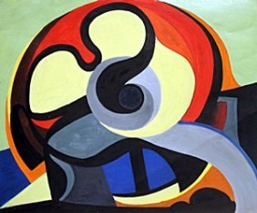 Composition - Oil On Paper - Auguste Herbin
