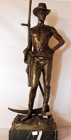 The Hard Working Farmer - Bronze Sculpture - William