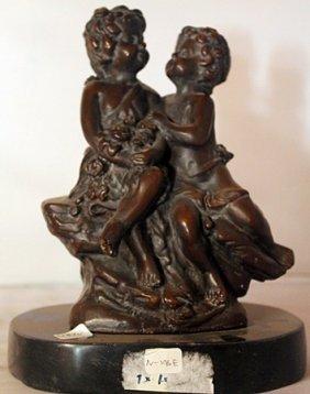 Young Love - Bronze Sculpture - Moreau