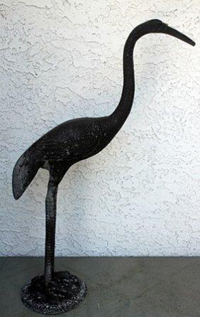 Crane Ii - Bronze Animal Sculpture