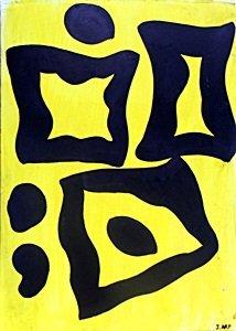 The Lake - Oil On Paper - Jean Hans Arp