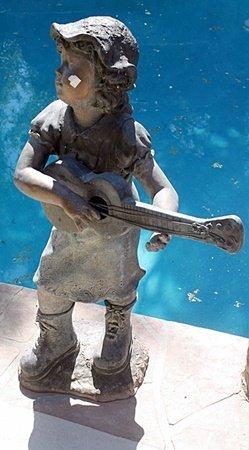 Girl With Guitar - Bronze Sculpture