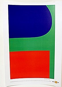 """Lithograph """"red Blue Green"""" After Ellsworth Kelly"""
