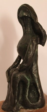 Sitting Nude - Patina Bronze Sculp. - Pablo Picasso