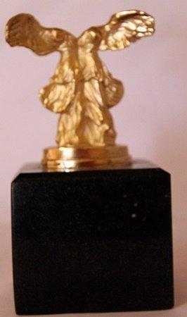 Winged Bust - Gold Over Bronze Sculpture - Salvador