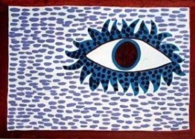 The Eye - Oil Painting - Yayoi Kusama