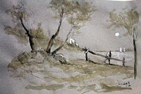 Untitled - Watercolor Painting - Jacques De Gheyn