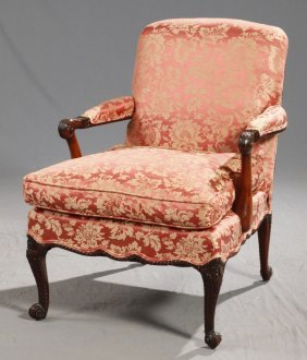 George Iii-style Mahogany Armchair, 20th C., In The