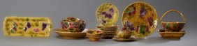Thirty-one Piece Majolica Fruit Set, Early 20th C., By