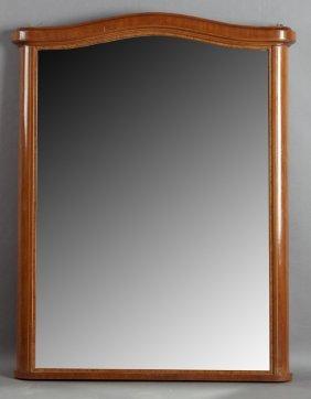 French Empire Style Inlaid Mahogany Overmantel Mirror,