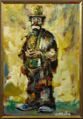 """Jack Cooley (1923-2008, New Orleans), """"the Clown,"""" 20th"""