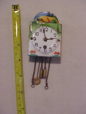 Early Porcelain Clock Made In Germany