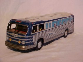 Tin Litho Greyhound Bus Toy