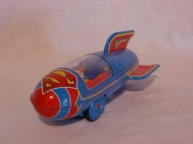 "Tin Litho ""Superman Rocket"" Toy"