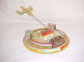 Tin Litho Wind Up Honeymoon Express Toy By Marx