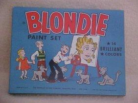 Blondie Paint Set 1952 W/tin Litho Box